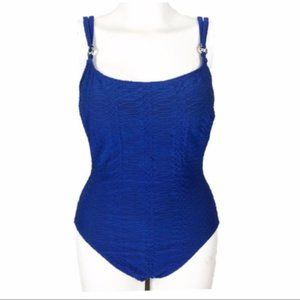 La Blanca [14] VINTAGE Blue One Piece Swim Suit